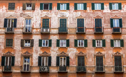 Vintage shutters in Rome Stock Photo