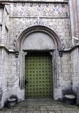 Vintage side entrance in Church of St James the Apostle in Torun. Poland royalty free stock photography