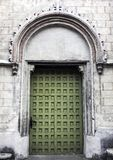 Vintage side entrance in Church of St James the Apostle in Torun. Poland stock photos
