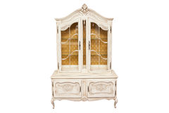 Vintage sideboard. Vintage provence style sideboard isolated on white Royalty Free Stock Image