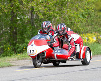 Vintage sidecar motorbike BMW Royalty Free Stock Photo
