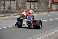 Vintage sidecar motorbike Stock Image