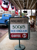 Vintage Sign. Sign Outside of Vintage Soda Fountain Royalty Free Stock Photos