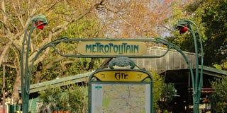Retro styl metro sign in Paris, France Stock Image