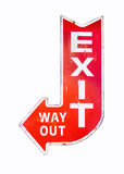 Vintage sign Exit Way out Retro style isolated Stock Photos