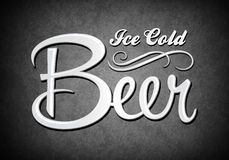 Vintage sign - Ice cold beer Stock Images