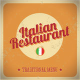 Vintage sign - Italian restaurant. Vector EPS 10 Stock Photography