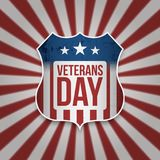 Vintage Sign with Veterans Day Text. Vector Illustration Stock Photo