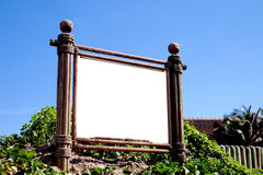 Vintage Signboard Frame On Sand Dune With Copy Space Royalty Free Stock Image