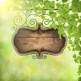 Vintage Signboard on Nature Background. Stock Photo