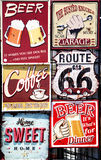 Vintage signboards Stock Photos