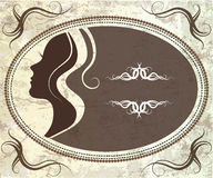 Vintage silhouette of girl Royalty Free Stock Photo