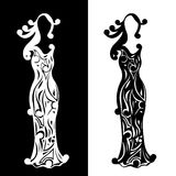 Vintage silhouettes of ladies Royalty Free Stock Photos
