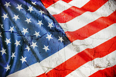 Vintage silk American flag Stock Photography