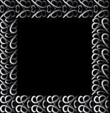 Vintage silver border. On a black background vector illustration