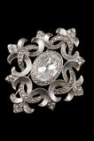 Vintage silver brooch Royalty Free Stock Images