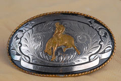 Vintage Silver Buckle Stock Photography