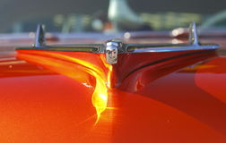Vintage Silver Car Hood Ornament Stock Image