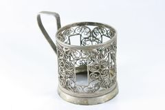 Vintage silver cup Stock Photography