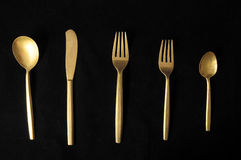 Vintage Silver Flatware Stock Photos