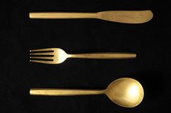 Vintage Silver Flatware Royalty Free Stock Image