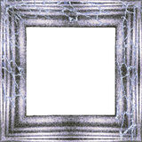 Vintage silver frame with cobweb Stock Photography