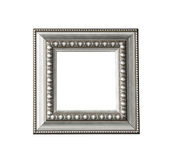 Vintage silver frame isolated Royalty Free Stock Images