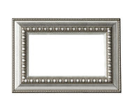 Vintage silver frame isolated Royalty Free Stock Image