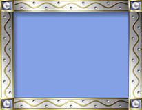 vintage Silver & gold frame Stock Images