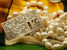 Vintage silver jewellery Stock Photo