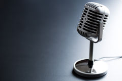 Vintage silver microphone Stock Image