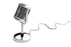 Vintage silver microphone. The classic vintage silver microphone stock images