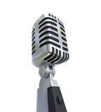 Vintage Silver Microphone Stock Images
