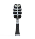Vintage Silver Microphone Royalty Free Stock Photography