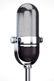 Vintage silver microphone royalty free stock photo