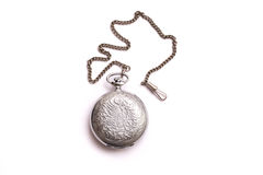 Vintage silver pendant isolated on white background. Vintage silver pendant isolated on white background Stock Images