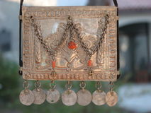 Vintage silver pendant Stock Photo