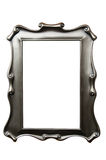 Vintage silver picture frame with clipping path Stock Photography