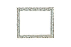 Vintage silver picture frame isolated Royalty Free Stock Images