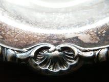 Vintage silver platter embellishment Stock Images