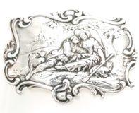 Jewlery. Vintage Silver Romantic Sterling stock image