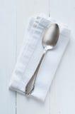 Vintage silver spoon Stock Image