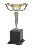 Vintage Silver trophy isolated With clipping path Royalty Free Stock Images