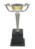 Vintage Silver trophy isolated With clipping path Stock Photo