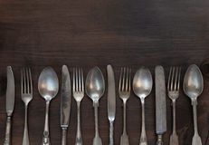 Vintage silverware Stock Photos