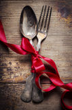 Vintage silverware Stock Images