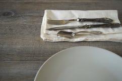 Vintage silverware Stock Photography