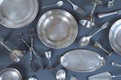 Vintage silverware royalty free stock photos
