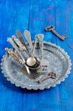 Vintage silverware Royalty Free Stock Photo
