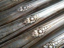 Vintage silverware spoons Stock Photo